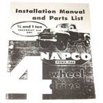 1954-1963 Napco installation manual for 3/4 and 1 ton trucks