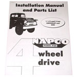 1954-1963 Napco installation manual for 1-1/2 and 2 ton trucks