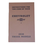 1936 Owners manual