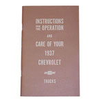 1937 Owners manual
