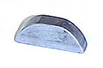 1967-1972 Woodruff (halfmoon) key