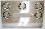 1955-1959 Radio dash face metal repair patch panel