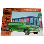 1957 Sales brochure for Panel trucks