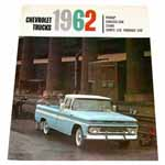 1962 Sales brochure for 1/2 ton to 1-1/2 ton 2WD trucks (C10-C40)