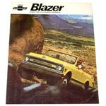 1969 Sales brochure for Blazers