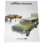 1971 Sales brochure for Suburbans