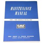 1947-1954 Shop maintenance manual book