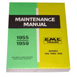 1955-1959 Shop maintenance manual book   GMC