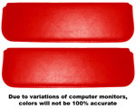 1955-1959 Inside sunvisor pads
