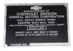 1942-1946 Vehicle identification plate