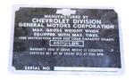 1947-1949 Vehicle identification plate