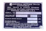 1947-1952 Vehicle identification plate