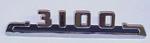 1953-1954 Hood side emblem