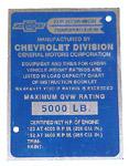 1956-1957 Data plate