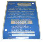 1958-1959 Data plate