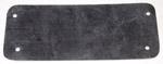 1936-1938 Wiper panel cover, blank, fiberglass