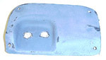 1939-1946 Wiper panel cover, fiberglass, right, use with WP39M