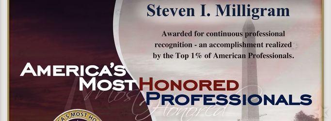 Steven I Milligram, America's Most Honored Professionals 2015
