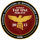 National Association of Distinguished Counsel | Nations Top One Percent 2015 | NADC
