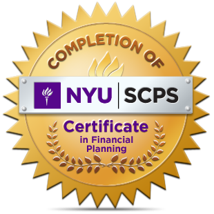 Completion of NYU Certificate