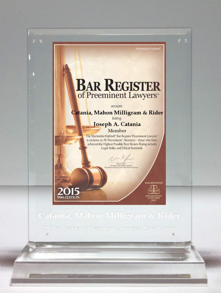 Martindate-Hubbell Bar Register Preeminent Lawyers Award