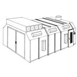RTT Engineered Solutions Paint Booth - Semi-Down Draft
