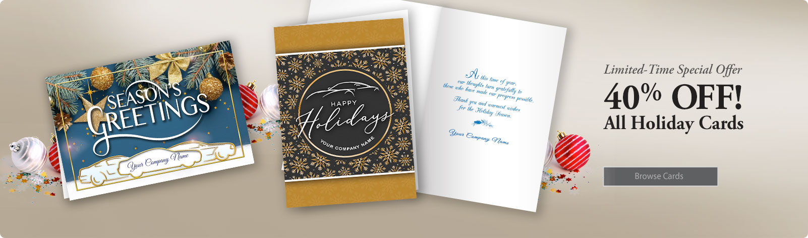 Auto Repair Holiday Cards