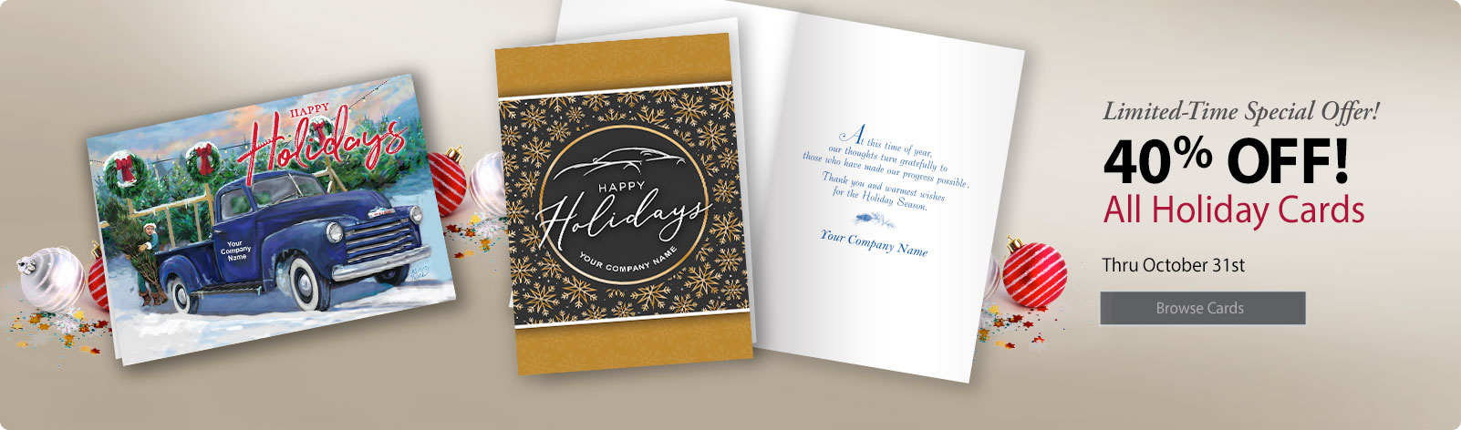Automotive Holiday Cards