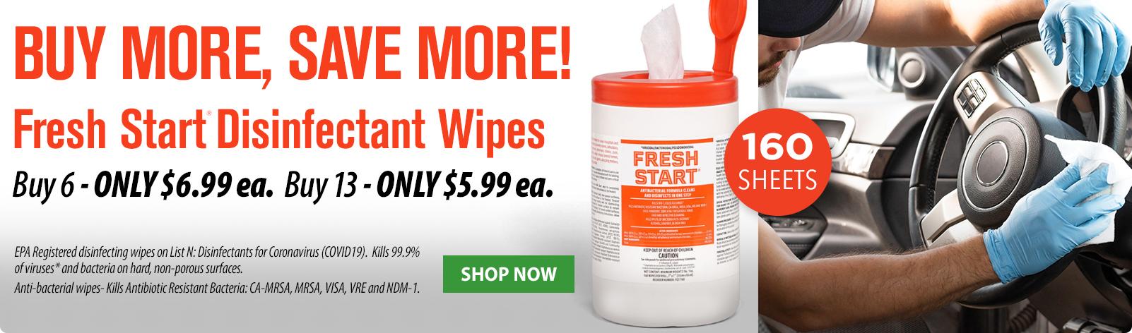Fresh Start Wipres Sale!