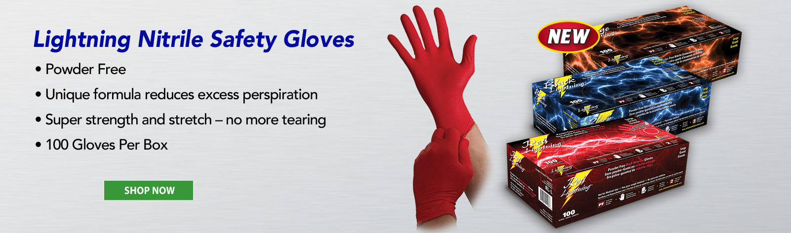Lightning Nitrile Safety Gloves