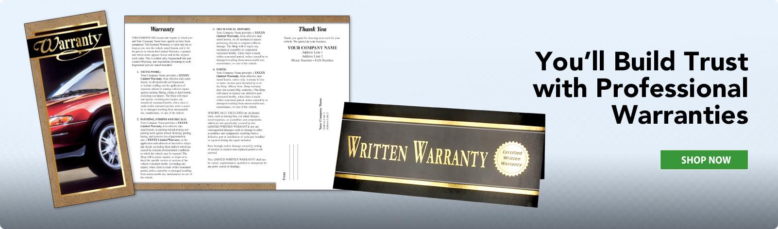 Written Warranty