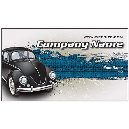 Full-Color Auto Repair Business Cards - Black Bug
