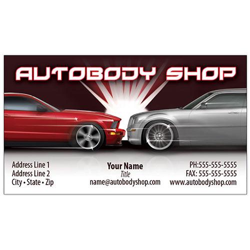 Full Color Auto Repair Business Cards Flash