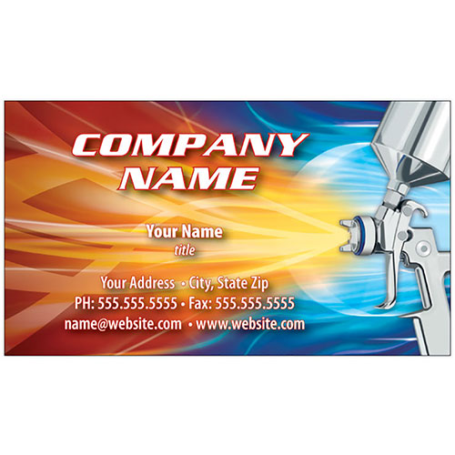 Full-Color Auto Repair Business Cards - Wild Spray