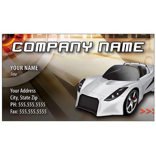 Full-Color Auto Repair Business Cards - Lotus