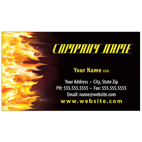 Full-Color Auto Repair Business Cards - Fire Side