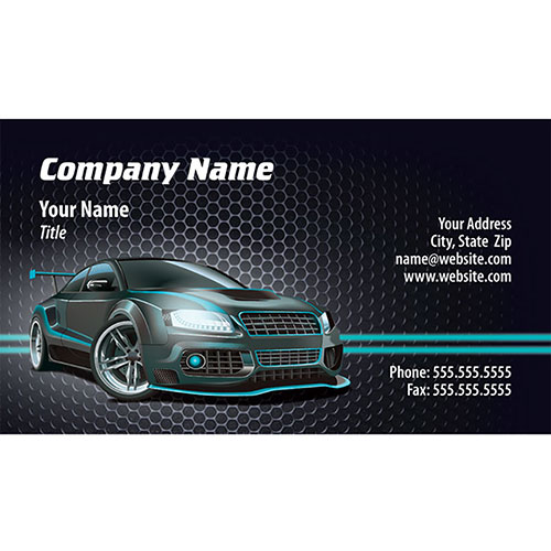 Full color auto repair business cards tuner lights colourmoves