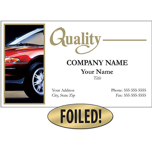 Auto Repair Business Cards with Foil - Quality