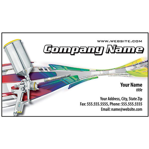 Auto Repair Business Cards with Foil - Exotic Spray, Silver Holographic