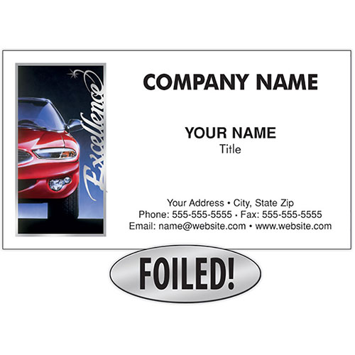Auto Repair Business Cards with Foil - Excellence, Platinum with Foil