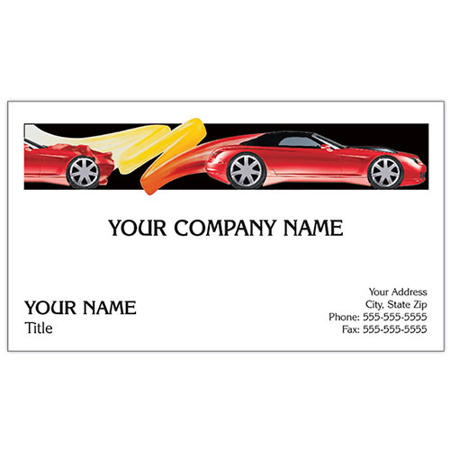 Auto Repair Business Cards - Crash