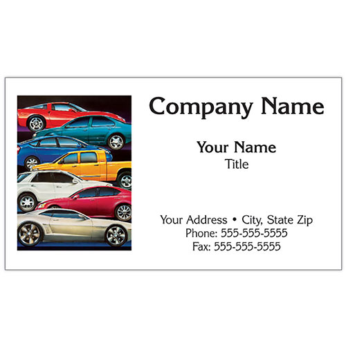 Auto Repair Business Cards - Stacked Cars