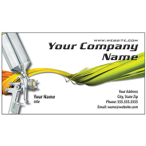 Auto Repair Business Cards - Paint Gun Twist