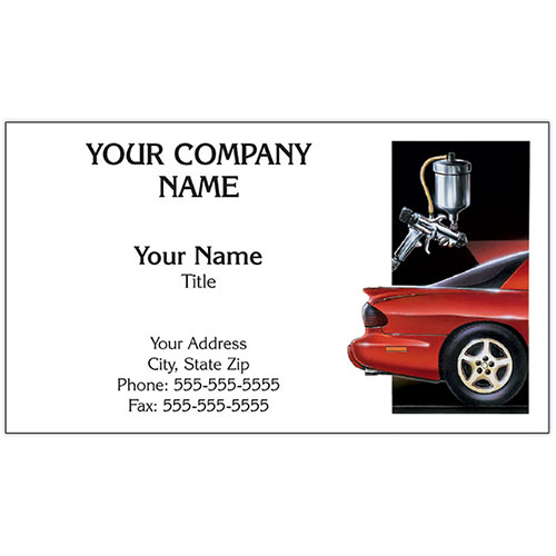 Auto Repair Business Cards - Spray Gun/Firebird