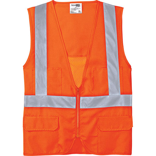 C/S Vest Safety ANSI 107 Class 2 Mesh Back