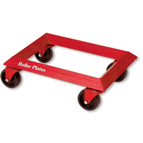 "Roller Plates, 4"" Diameter Wheels, 1000 LBS Load Capacity"