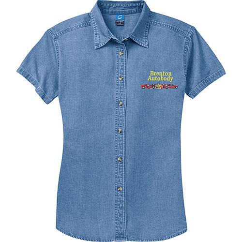 P/C Shirt SS Ladies Denim