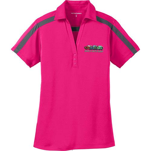 P/A Sport Ladies Silk Touch Colorblock Stripe