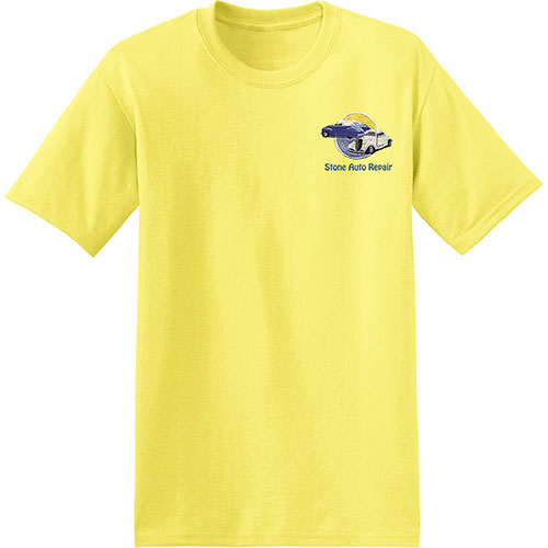 Embroidered Hanes T-Shirt EcoSmart 50/50 Cotton Poly