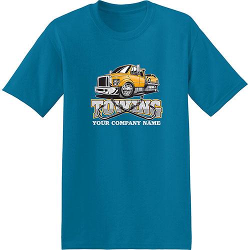 Screenprinted Hanes T-Shirt EcoSmart 50/50 Cotton Poly